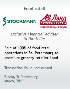 Stockmann sells food retail operations in St. Petersburg to premium market retailer Land