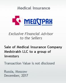 Sale of Medical Insurance Company Medstrakh LLC to a group of investors