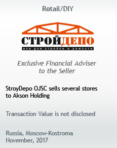 StroyDepo OJSC sells several stores to Akson Holding